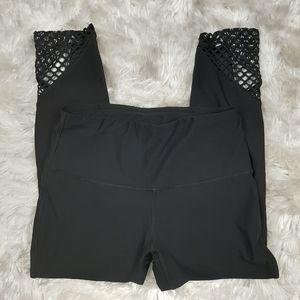 RBX Athletic Crop Mesh Leggings XS Black